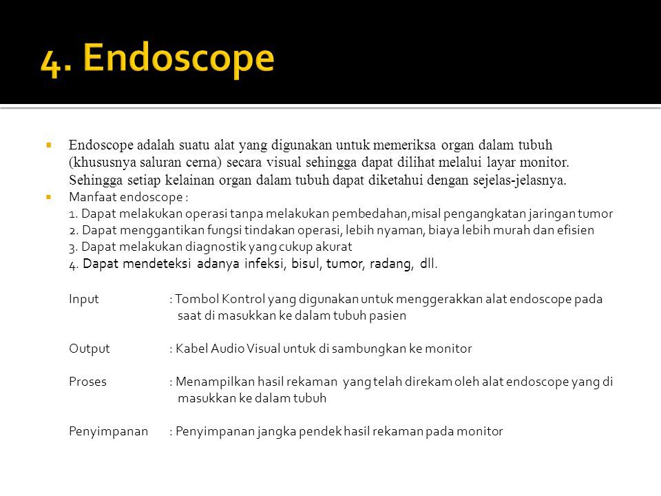 4. Endoscope