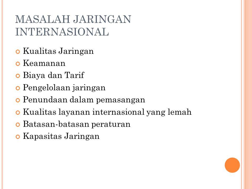 MASALAH JARINGAN INTERNASIONAL