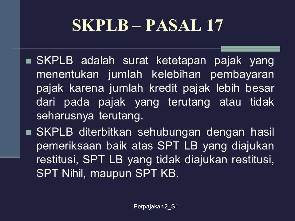 SKPLB – PASAL 17