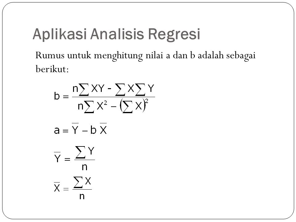 Aplikasi Analisis Regresi
