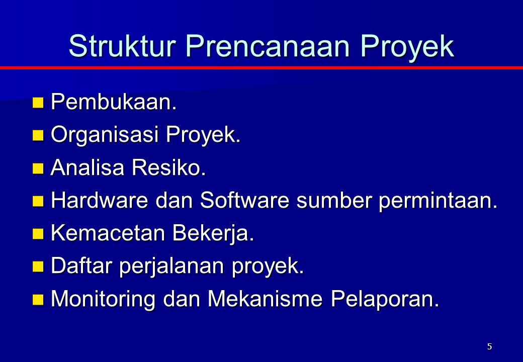 Struktur Prencanaan Proyek