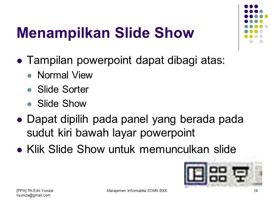 Menampilkan Slide Show