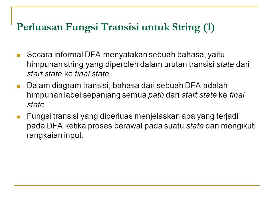 Perluasan Fungsi Transisi untuk String (1)