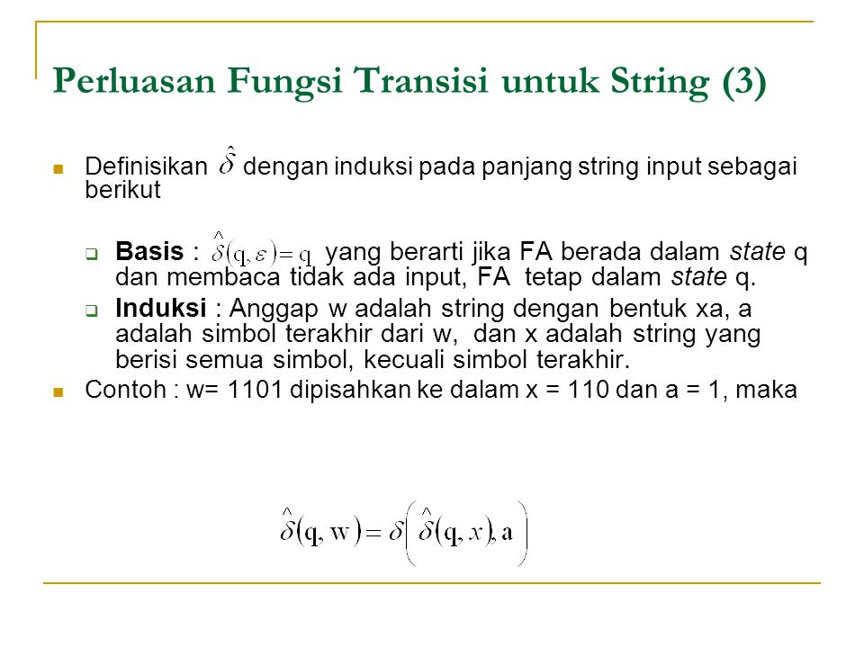 Perluasan Fungsi Transisi untuk String (3)