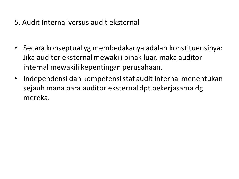 5. Audit Internal versus audit eksternal