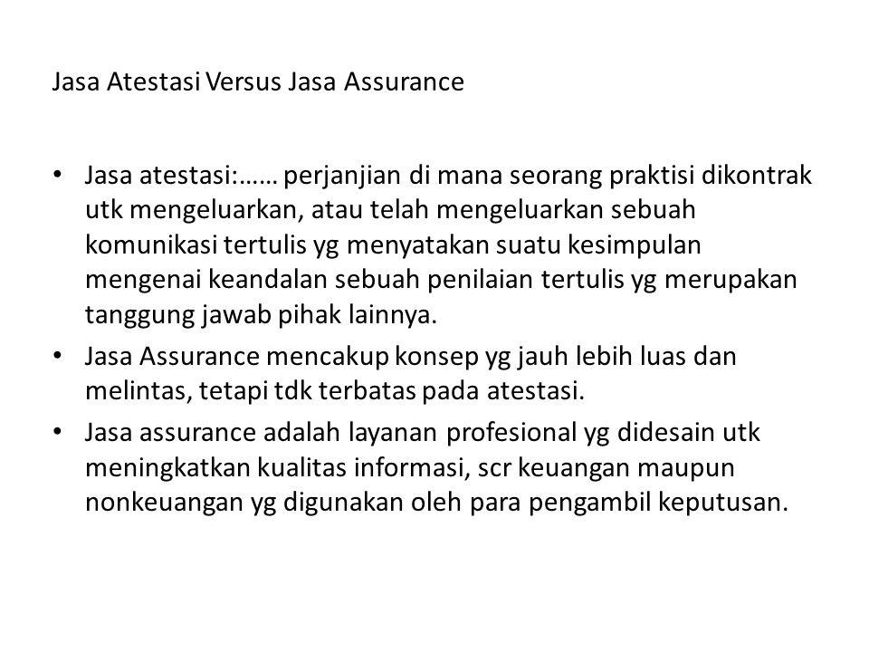 Jasa Atestasi Versus Jasa Assurance