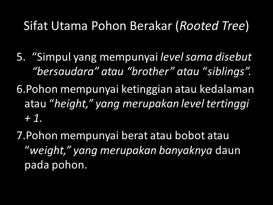 Sifat Utama Pohon Berakar (Rooted Tree)