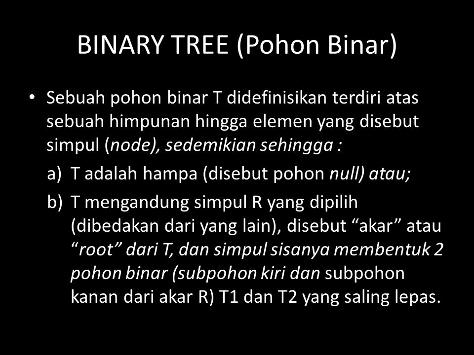 BINARY TREE (Pohon Binar)