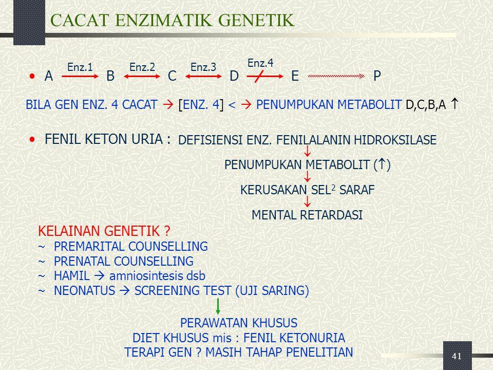 CACAT ENZIMATIK GENETIK