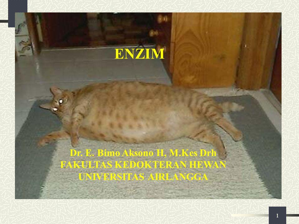 ENZIM Dr. E. Bimo Aksono H, M.Kes Drh FAKULTAS KEDOKTERAN HEWAN