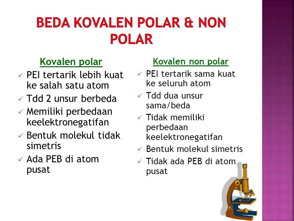 Beda kovalen polar & non polar