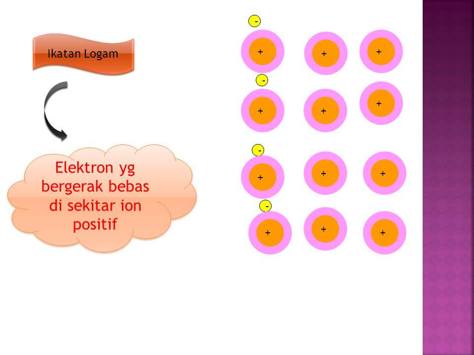 Elektron yg bergerak bebas di sekitar ion positif