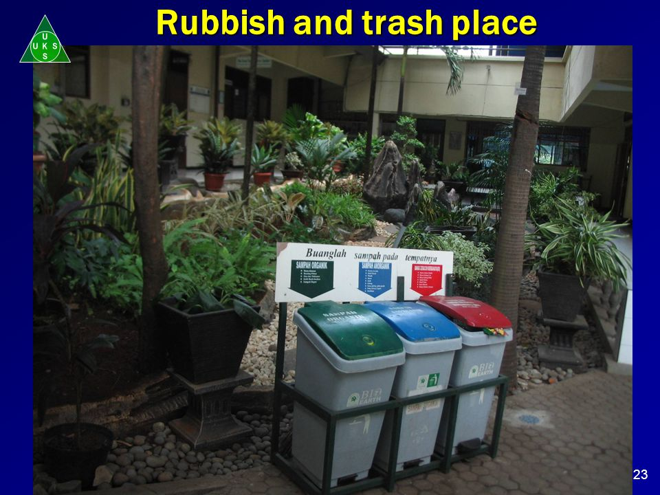 Rubbish and trash place