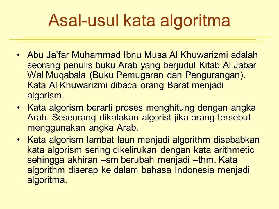 Asal-usul kata algoritma