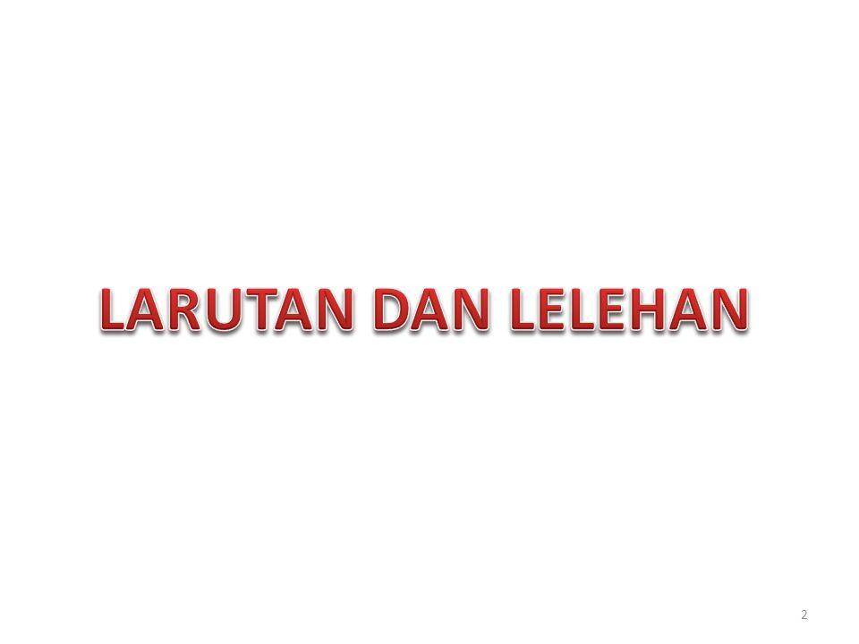 LARUTAN DAN LELEHAN