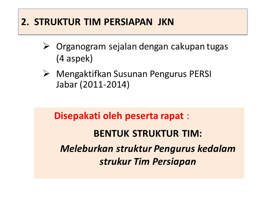 2. STRUKTUR TIM PERSIAPAN JKN