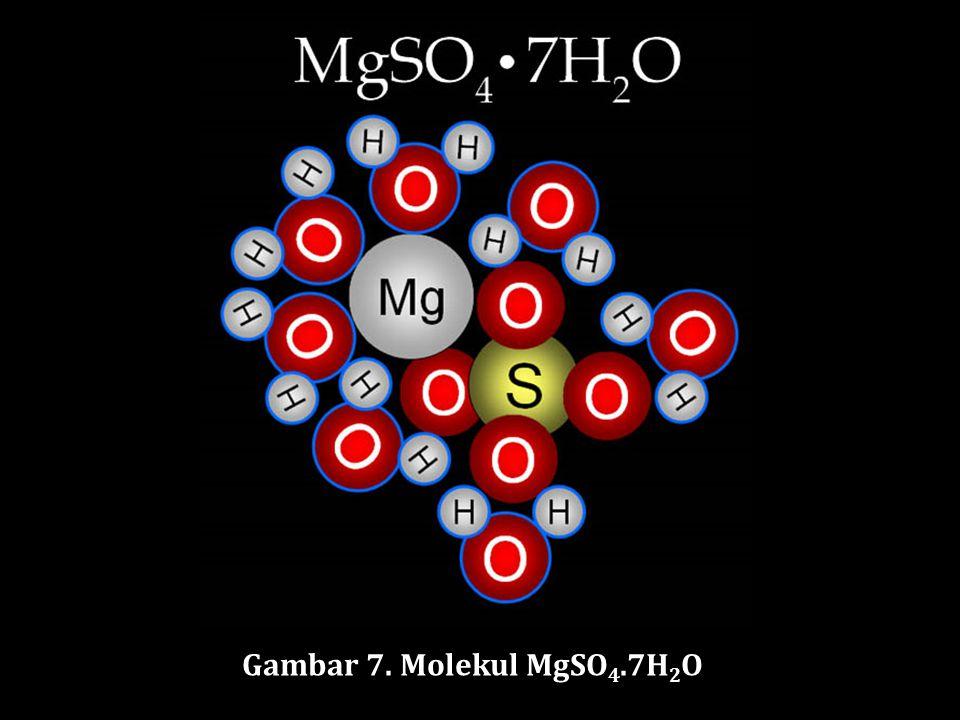 Gambar 7. Molekul MgSO4.7H2O
