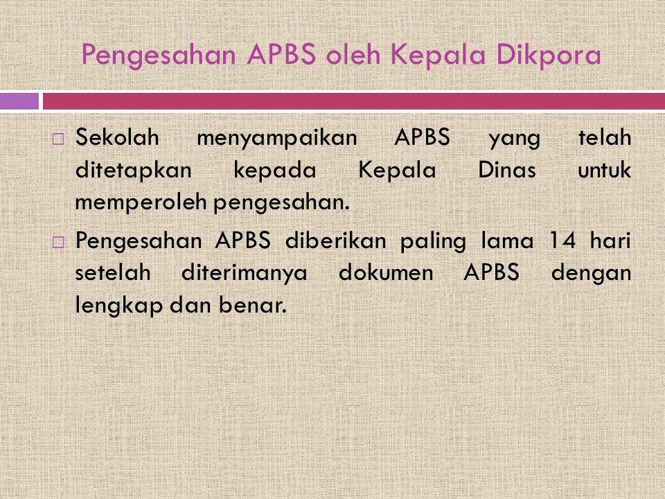 Pengesahan APBS oleh Kepala Dikpora