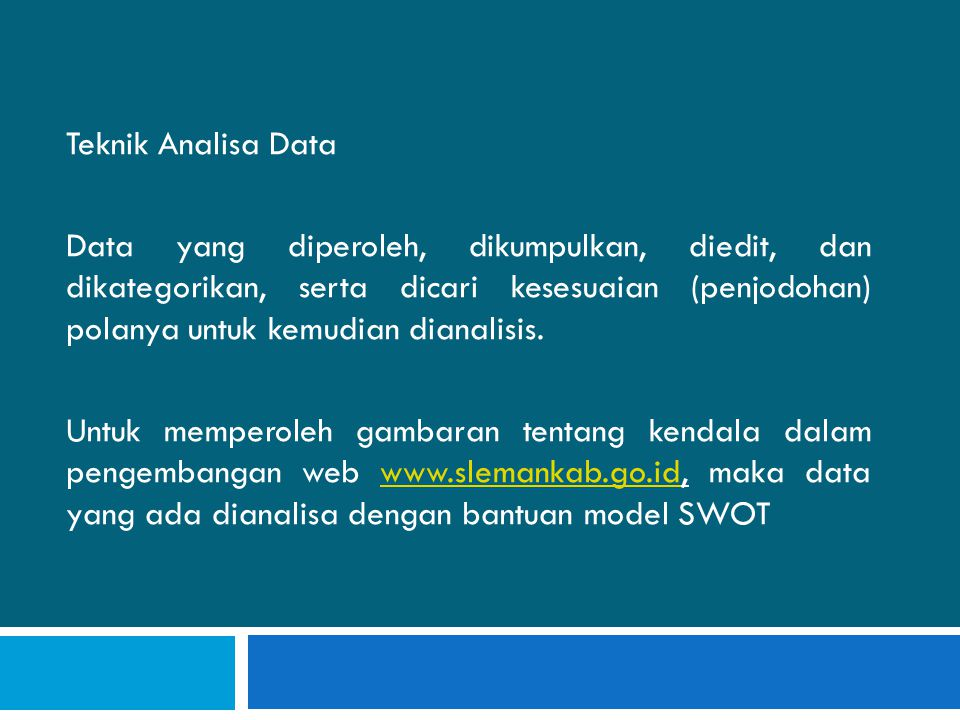Teknik Analisa Data
