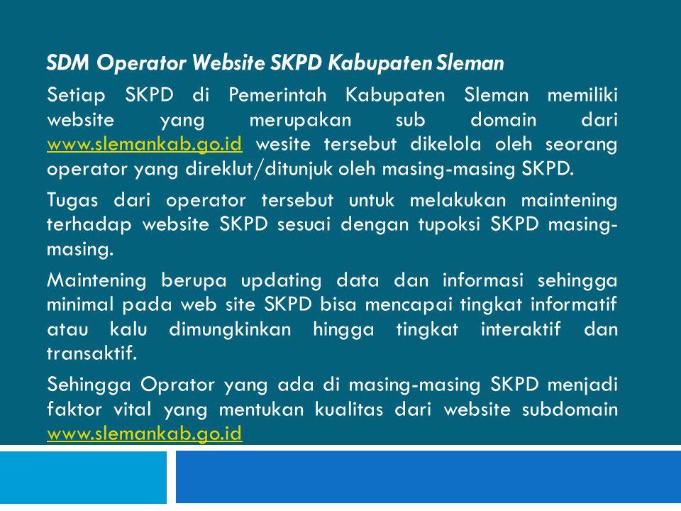 SDM Operator Website SKPD Kabupaten Sleman