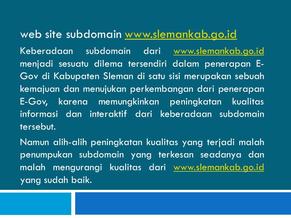 web site subdomain www.slemankab.go.id