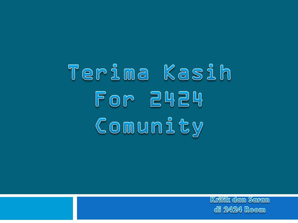 Terima Kasih For 2424 Comunity