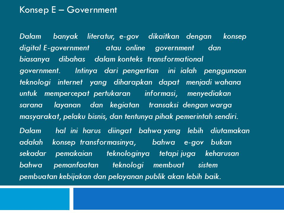 Konsep E – Government