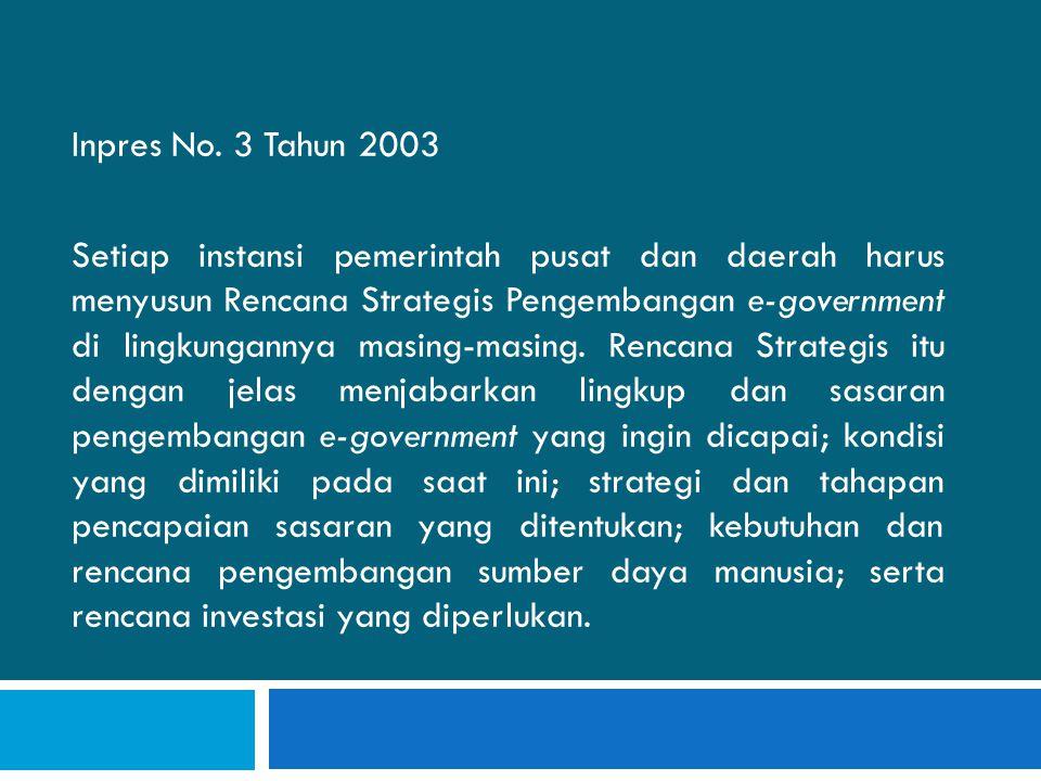 Inpres No. 3 Tahun 2003