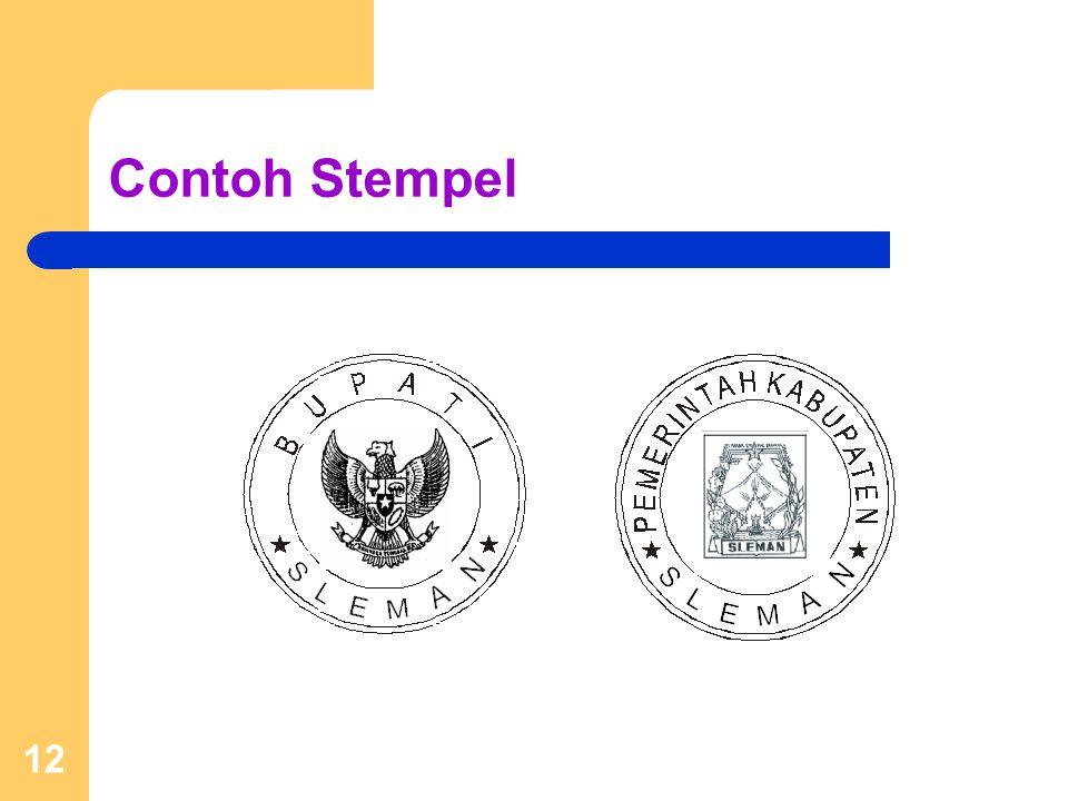 Contoh Stempel