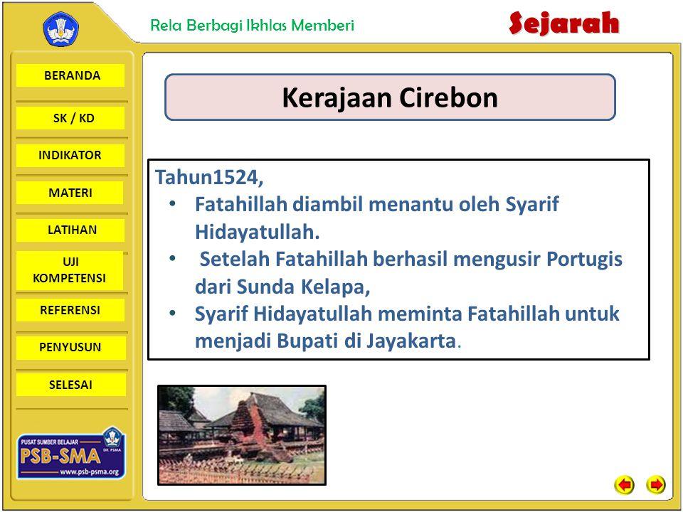 Kerajaan Cirebon Tahun1524,
