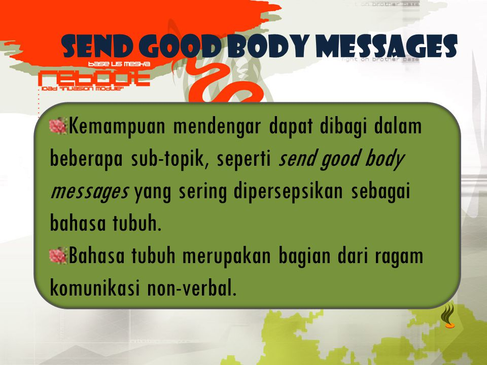 SEND GOOD BODY MESSAGES