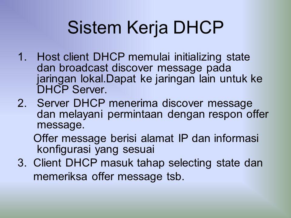 Sistem Kerja DHCP