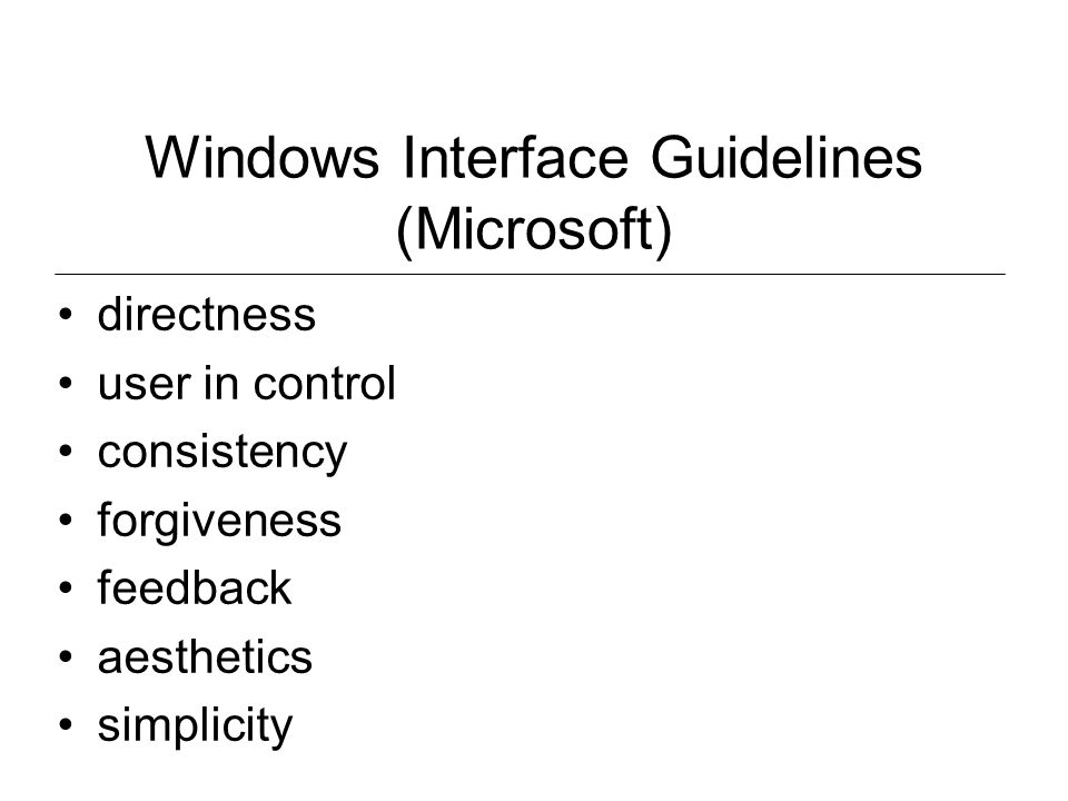 Windows Interface Guidelines (Microsoft)