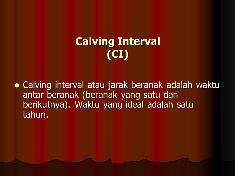 Calving Interval (CI)
