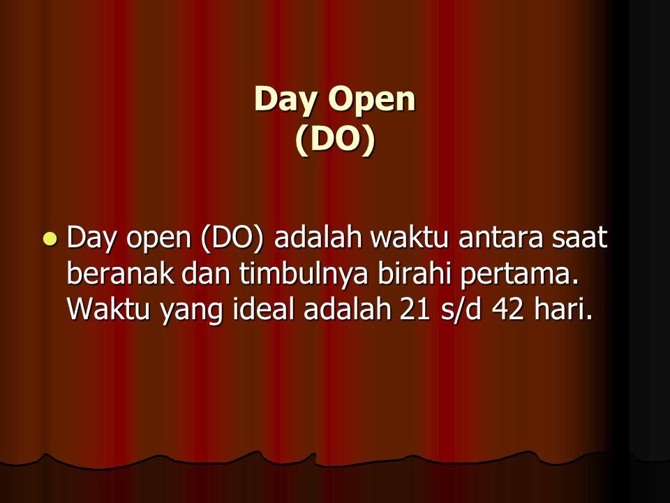 Day Open (DO) Day open (DO) adalah waktu antara saat beranak dan timbulnya birahi pertama.