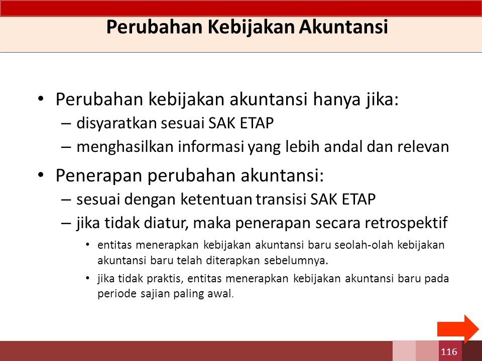 Perubahan Kebijakan Akuntansi