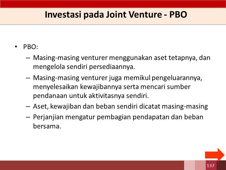 Investasi pada Joint Venture - PBO