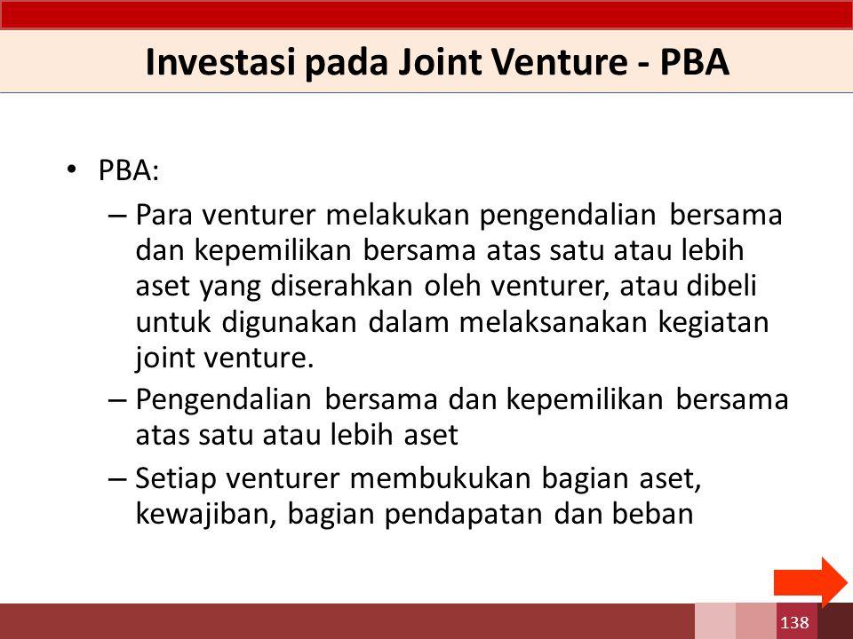 Investasi pada Joint Venture - PBA