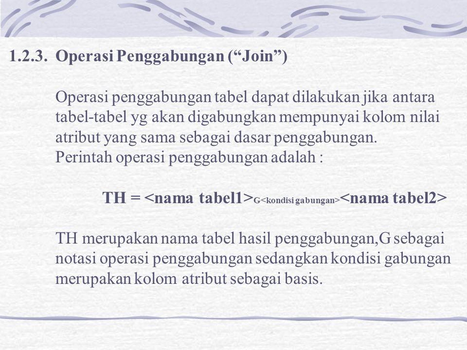 1.2.3. Operasi Penggabungan ( Join )