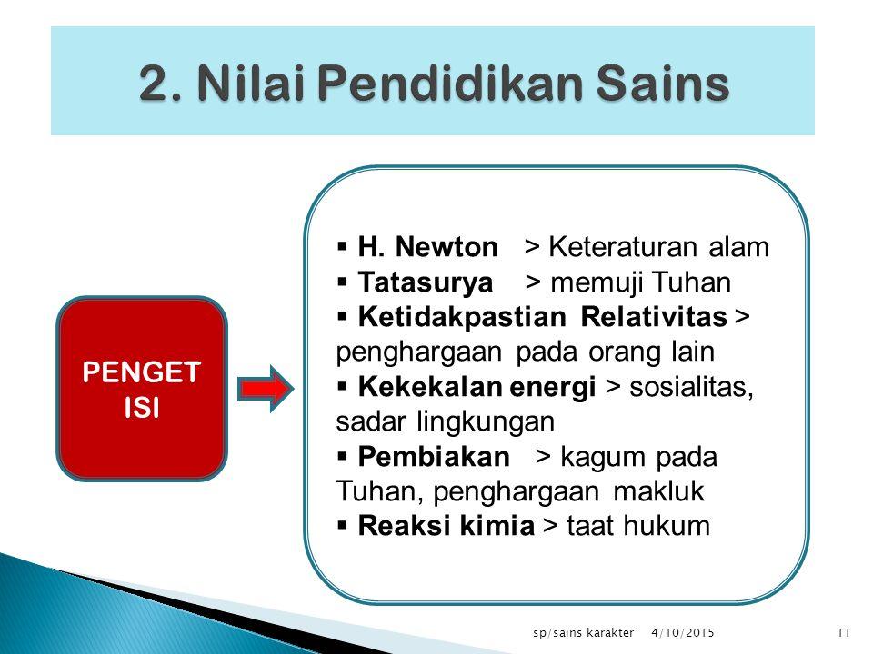 2. Nilai Pendidikan Sains