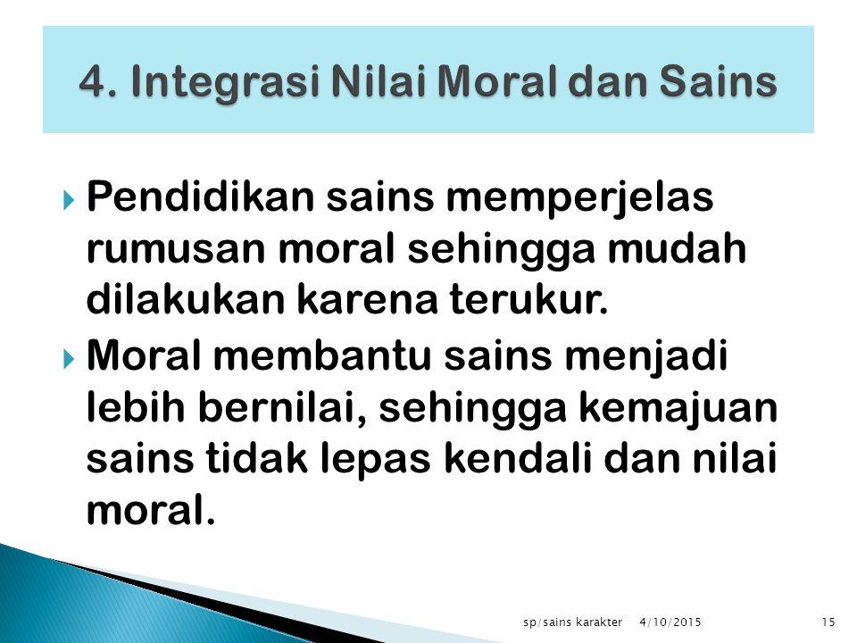 4. Integrasi Nilai Moral dan Sains