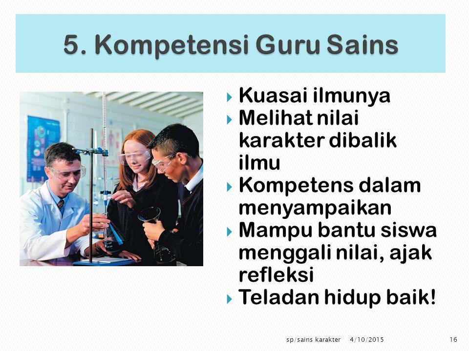 5. Kompetensi Guru Sains Kuasai ilmunya