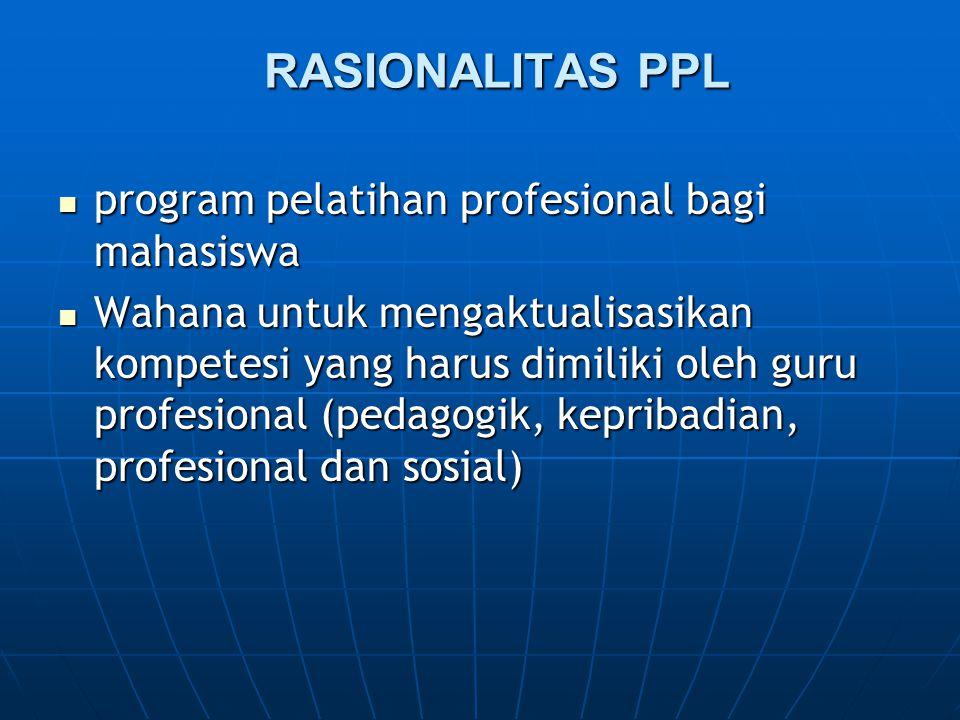 RASIONALITAS PPL program pelatihan profesional bagi mahasiswa