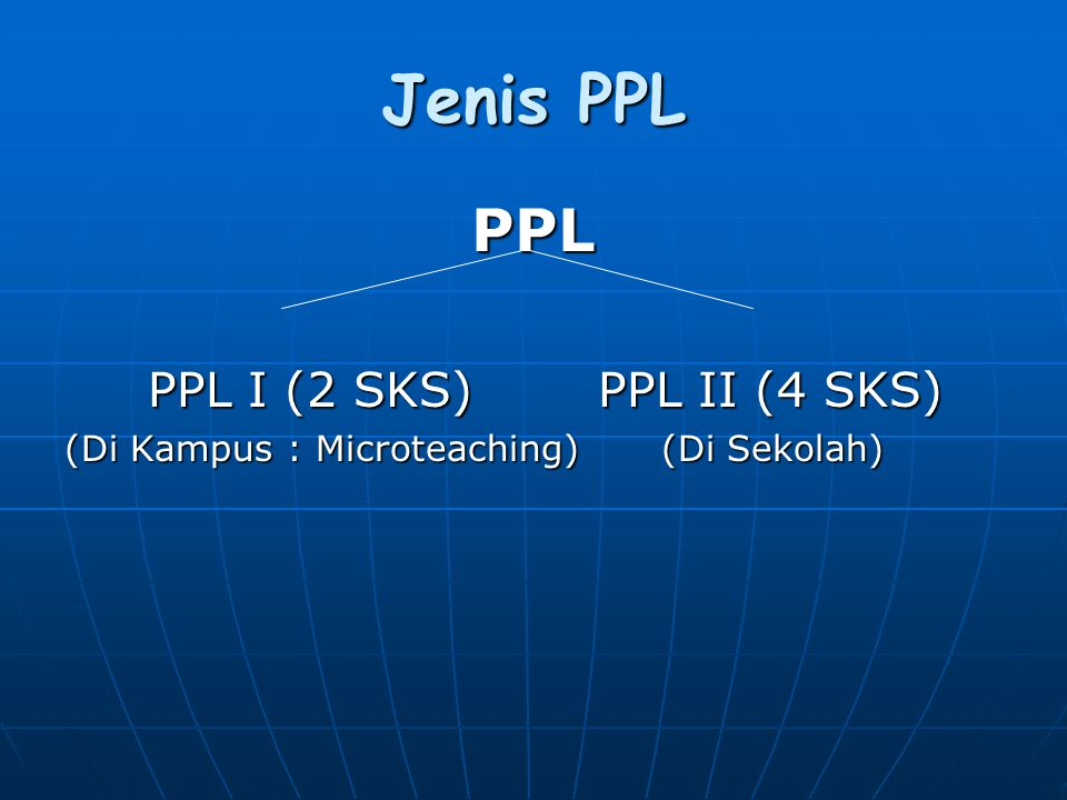 Jenis PPL PPL PPL I (2 SKS) PPL II (4 SKS)