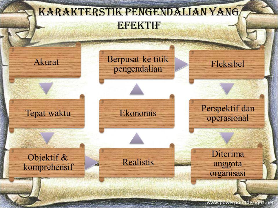 Karakterstik pengendalian yang efektif