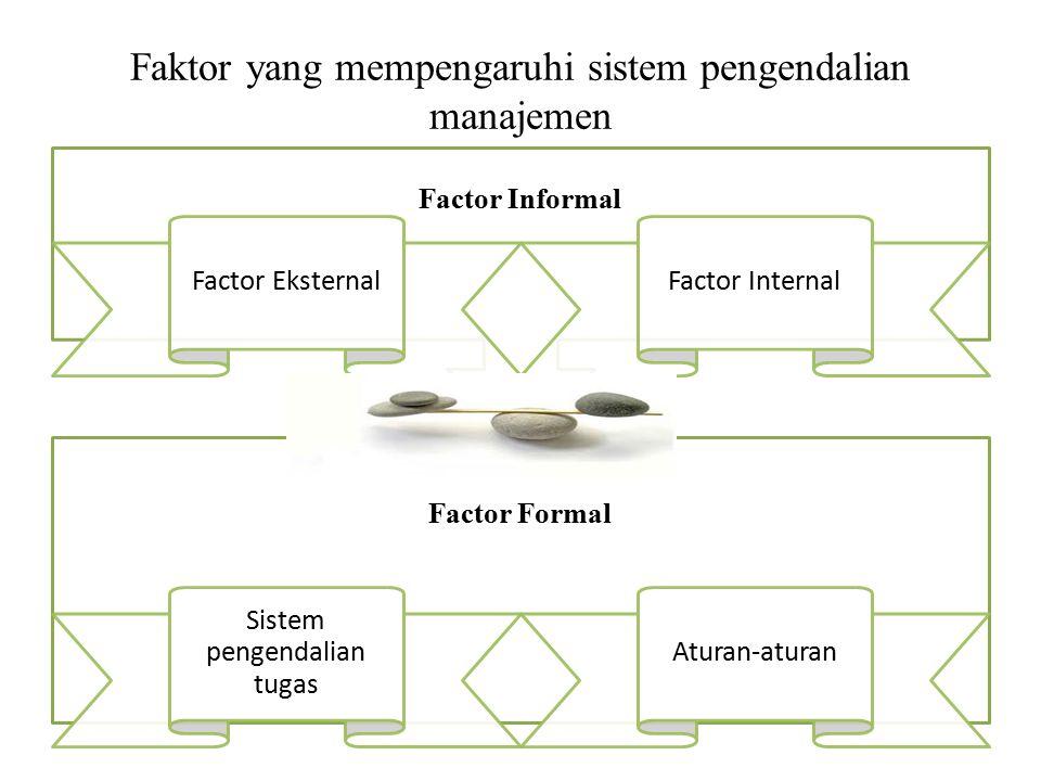 Faktor yang mempengaruhi sistem pengendalian manajemen