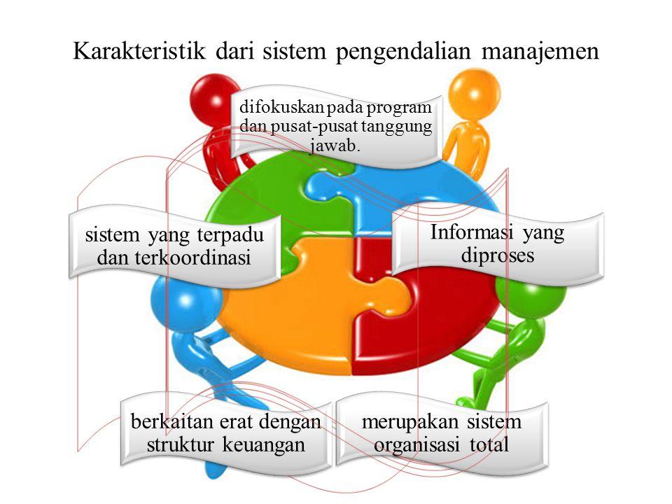 Karakteristik dari sistem pengendalian manajemen