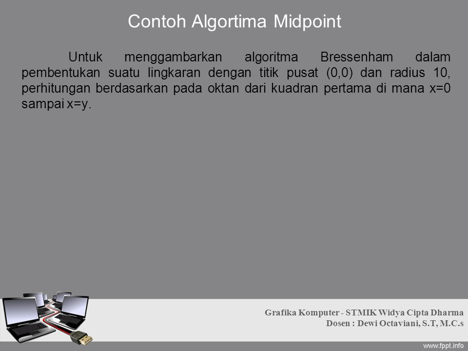 Contoh Algortima Midpoint