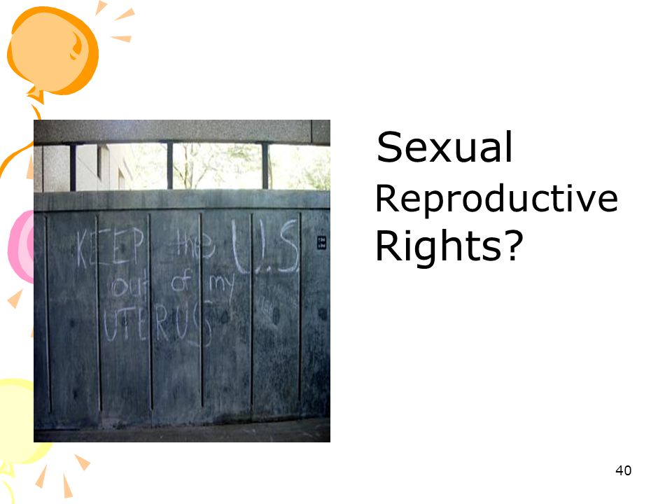 Sexual Reproductive Rights