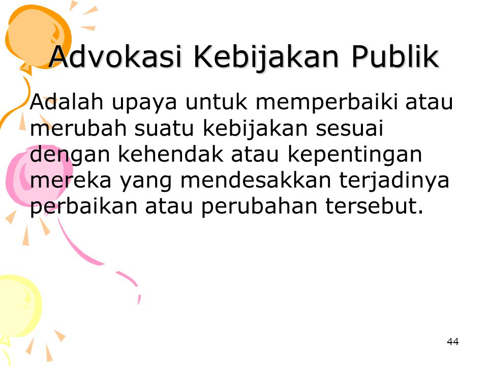 Advokasi Kebijakan Publik